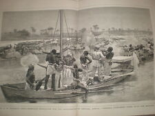 H M Stanley in central Africa A Fight with the Bangala 1878 large old print