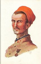 CARTE POSTALE ILLUSTRATEUR JEAN DROIT 1915 FANTAISIE SOLDAT ARABE