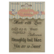 SENTIMENTS - NAUGHTY - Clear Stamp Set - Cupcake Boutique Collection - Dovecraft