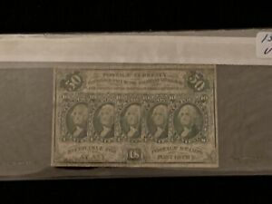 Fr. 1312 50¢ Fifty Cents 1st First Issue Fractional Currency Very Good