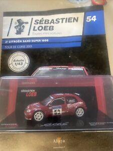 Vehicules Sebastien Loeb Citroën saxo super 1600 tour de Corse 2001 neuf