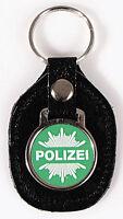 Schluesselanhaenger Leder mit Anhaenger Logo Polizei 06178