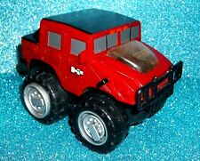Vintage LITTLE TIKES RED H2 HUMMER Pull Back & Go Model TRUCK NM Rugged Rigz