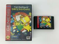 Simpsons: Bart's Nightmare (Sega Genesis, 1993) Cart + Case