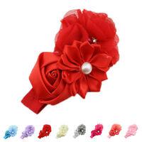 Baby Kid Girl Flower Headband Lace Soft Elastic Headwear Hair Band Headdress
