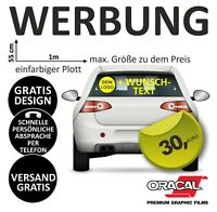Heckscheibe Fahrzeug Beschriftung Werbung Auto Aufkleber Wunschtext + Logo #8