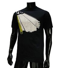 Dc shoes Usa Skateboard Co. Black Rised Logo Mens t shirt Medium