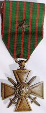 Decoration militaire Croix de Guerre 1914-18 avec 1 etoile