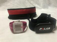 POLAR HEART RATE SENSOR H1 & POLAR FT4 WATCH HEART RATE MONITOR FITNESS PINK