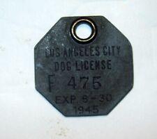 Vintage Los Angeles City Dog License
