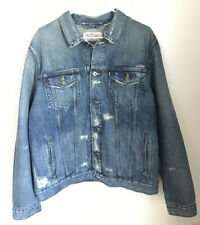 Levi Made And Crafted Made In Japan Denim Distressed Trucker Jacket $398