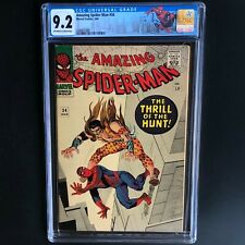 AMAZING SPIDER-MAN #34 (1966) 💥 CGC 9.2 OW-W 💥 CLASSIC KRAVEN COVER!
