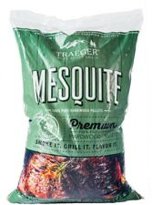 Mesquite Hardwood BBQ Pellets Real Natural Wood Smoke Fired Flavor Infuse Meats