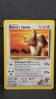 Pokemon Card Blaine's Tauros 64/132 Gym Heroes Common Near Mint