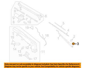 NISSAN OEM Wiper Washer-Windshield-Wiper Arm Nut 2888950J1A