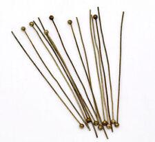 Stifte mit Kugel Kupfer bronzefarben 0.5mm x 5 cm lang 20x
