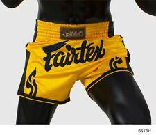 Fairtex Muay Thai Shorts Slim Cut BS1701 Size M Yellow