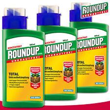 Roundup Universel Exempt de Mauvaises Herbes 3 x 500 ML Total Lutte contre les