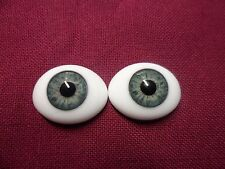 22 MM Green Grey Glass Pabol  Doll Eyes FAST SHIPPING TO USA