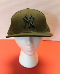 59Fifty Brown New York Yankees Logo MLB Baseball New Era Fitted Hat Cap 7 5/8