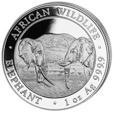 Somalia - 100 SH. - 2020 - Elefant - African Wildlife - 1 Oz Silber ST