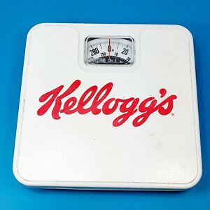 Vintage Kelloggs Metro 80s USA Working 300 lb Square White Beige Bathroom Scale