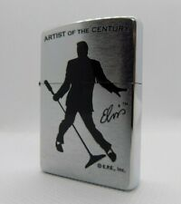 Zippo Windproof Lighter 'Elvis Artist Of The Century' Brushed Chrome 2002 NEW