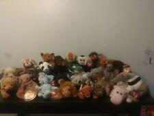 Ty Beanie Baby Huge Lot Of 25 Wild Animals Hissy Tubbo Cheeks Rusty Mel MWT