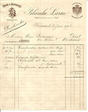 Bordeaux, Facture 1903  Larue,Robes et manteaux. 2 documents.Rue Esprit des lois