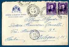 MONACO - 1923/1924 - BUSTA - Destinazione Bologna. Effige di Luigi II. R699