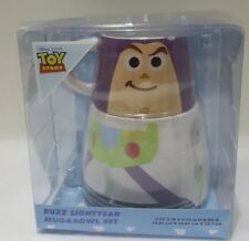 Disney Toy Story Buzz Lightyear Mug Cup & Bowl Gift Set Primark Home Breakfast
