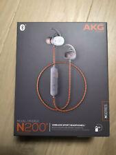 AKG N200 N200A - ECOUTEURS Sans fil Bluetooth Iphone Android Blanc Orange NEUF
