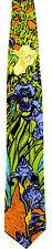 Vincent Van Gogh Men's Neck Tie Art Artist Irises Dutch Painter Silk Necktie