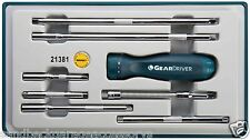 Signet Gear Driver Ratchet Screwdriver Handle with Interchangeable Shafts S21381