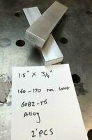 6082-T6 Aluminium Alloy 50mm DIA Round Bar OFF CUTS JOB LOT 75-85mm