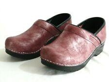 Womens NWOB Sanita Danish Clogs Shoes Metallic Pink Sz 36 US 7.5/8