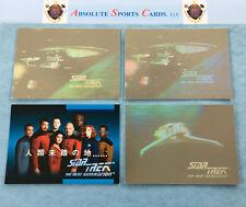 1991~1992 Impel STAR TREK Hologram-SP Lot x 4   #H2   O1A Japenese   O1H Klingon