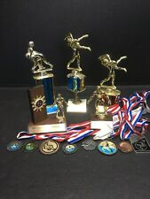 Lot of Wrestling Trophies x5 & Medals x8 - Upcycle for your Next Tournament! 🤼