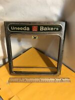 Vintage Advertising  National Biscuit Company Glass Display Bin Cover
