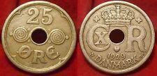 Denmark 25 Ore 1929 N;GJ KM#823.2 Christian X (2962) mintage: 886,000