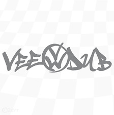 "VW veedub STICKER Volkswagen Decal T4 T5 T6  Caddy Golf polo up!   6"" [vw002]"
