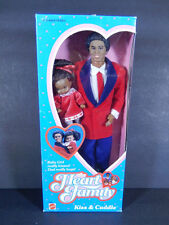 NIB HEART FAMILY DOLL 1986 KISS & CUDDLE DAD BABY GIRL BLACK AA AFRICAN AMERICAN