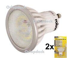 2 x GU10 LED Energy Saving Light Bulbs. 3.5W.100°angle. (Twin Pack). Rolson 6181