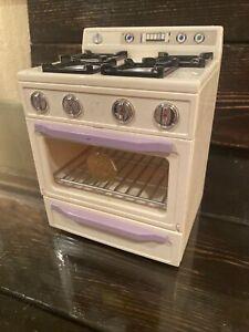 Barbie Kitchen Littles WHITE STOVE OVEN Lights Up