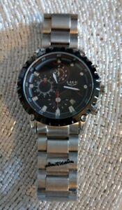 BNWOT Men's Stainless Steel Chronograph Bracelet Lige Watch