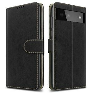 For Google Pixel 6 Pro 5G Case, Leather Wallet Stand Phone Cover + Screen Guard
