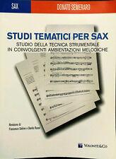 Donato Semeraro, Studi tematici per Sax, Ed. Volontè & Co., 2010