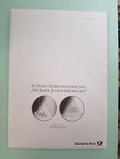 600 Jahre Jugendherbergen 10 Euro Silbergedenkmünze Stempelglanz 2009 G