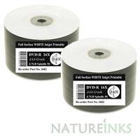 100 Ritek A++ F01 Full Face White Printable blank DVD-R 1x - 16x DVD Discs 4.7GB