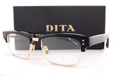 Brand New DITA Eyeglass Frames Statesman DRX-2011J-55 Black/Gold Men Women